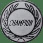 Emblem 50 mm Kranz CHAMPION, silber