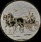 Emblem 25 mm Kutsche, silber