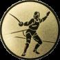 Emblem 50 mm Säbelfechten, gold