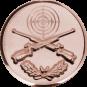 Emblem 50 mm Zielsch. mit Gewehren u. Eichenlaub, bronze schießen