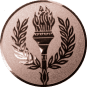 Emblem 50 mm Siegesfackel, bronze