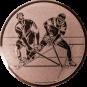 Emblem 50mm 2 Hockeyspieler, bronze