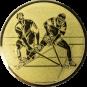 Emblem 50mm 2 Hockeyspieler, gold