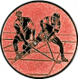 Emblem 25mm 2 Hokeyspieler, bronze