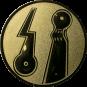 Emblem 50mm 2 Minigolfplätze, gold