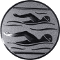 Emblem 25mm 2 Schwimmer, silber