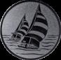 Emblem 25mm 2 Segelboote, silber