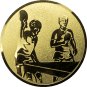 Emblem 50mm 2 Tischtennisspieler, gold