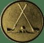 Emblem 25mm 2xGolfschläger, gold