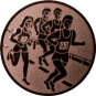 Emblem 50mm 4 Laufer, bronze