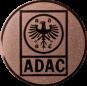 Emblem 50mm ADAC, bronze