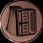 Emblem 50mm Akkordeon 2, bronze