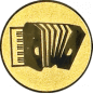 Emblem 25mm Akordion, gold