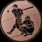 Emblem 50mm Baseball 2 Spieler, bronze