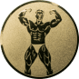 Emblem 50mm Bodybuilding männl., gold