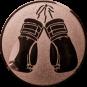 Emblem 50mm Boxhandschuhe, bronze