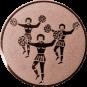 Emblem 50mm Cheerleader, bronze