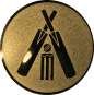 Emblem 50mm Cricket, gold