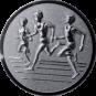Emblem 50mm Drei Laeufer, silber 3D