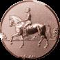 Emblem 50mm Dressurreiter 3D, bronze