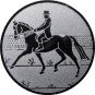 Emblem 25mm Dressurreiter, silber