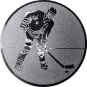 Emblem 50mm Eishockeyspieler, silber