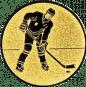 Emblem 25mm Eishokeyspieler, gold