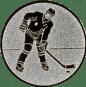 Emblem 25mm Eishokeyspieler, silber