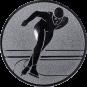 Emblem 50mm Eisschnelllauf, silber