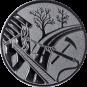 Emblem 50mm Feuerwehreisatz, silber