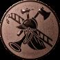 Emblem 50mm Feuerwehrhelm, bronze