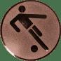Emblem 50mm Fußballer Symbol, bronze