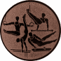 Emblem 50mm Geräteturner, bronze