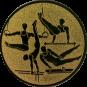 Emblem 50mm Geräteturner, gold