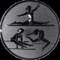 Emblem 50mm Geräteturnerin, silber