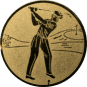 Emblem 25mm Golfer, gold