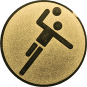 Emblem 50mm Handball Symbol, gold