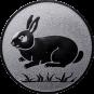 Emblem 50mm Hase, silber