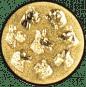 Emblem 25mm Hunderassen 3D, gold