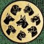 Emblem 25mm Hunderassen, gold