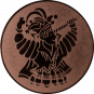 Emblem 50mm Karnevalsprinz, bronze
