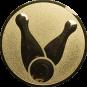 Emblem 50mm Kegel 1, gold