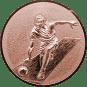 Emblem 50mm Kegeln 3D, bronze