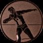 Emblem 50mm Kugelstossen, bronze