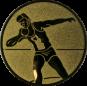 Emblem 50mm Kugelstossen, gold