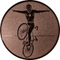 Emblem 50mm Kunstrad, bronze