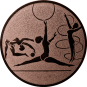 Emblem 50mm Kunstturnen, bronze