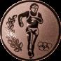 Emblem 50mm Laeufer Olympia, bronze