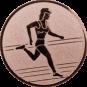 Emblem 50mm Laeuferin, bronze