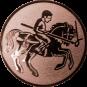 Emblem 50mm Lanzen-Reiter, bronze
